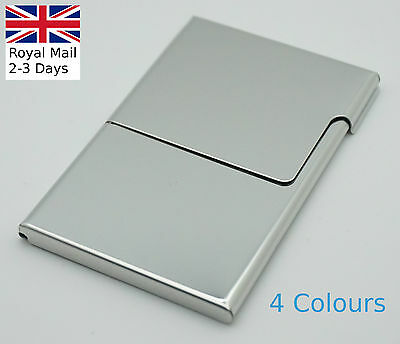 Semi-open Business Credit ID Card Holders Metal Stainless Steel Pocket Case Box • 4.49£