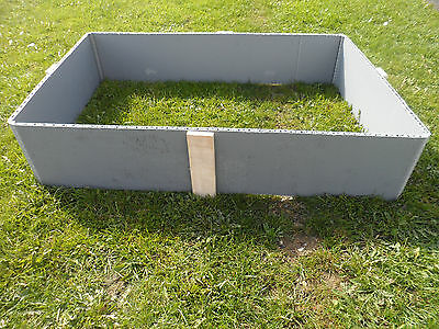 4 PACK - RAISED PLASTIC BEDS 1200x800x390mm - GARDEN BEDS - USED PLASTIC COLLARS • 17.50£