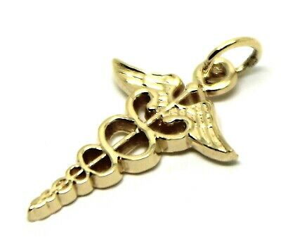 AU69.78 • Buy  9ct Yellow Or Rose Or White Gold Or Silver Small Serpent Medical Alert Pendant