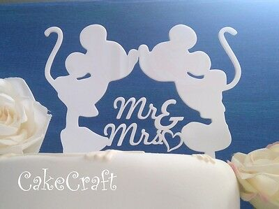 £8.99 • Buy  Acrylic  Mr&Mrs Mickey Minnie Mouse Wedding, Anniversary Cake Topper Decoration