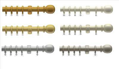£24.99 • Buy Wooden Curtain Pole, 28mm Diameter, Real Wood, Modern Colours, Grey, Stone, P...