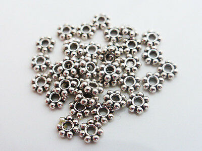 £1.40 • Buy 200 X Tibetan Style Daisy Flower Spacer Beads 4mm Antique Silver LF (MB22)