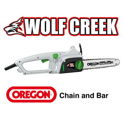 "View Details 16"" Electric Chainsaw With Oregon Chain Bar 2000W Inc Q-TENS Easy Chain Tension • 79.00£"