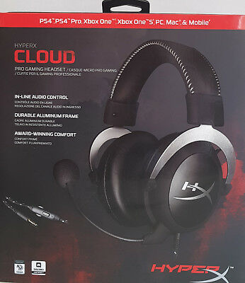AU148.45 • Buy Kingston HyperX Cloud Gaming Headset For PCs, PS4 PRO, Xbox One, Wii U, Mobile