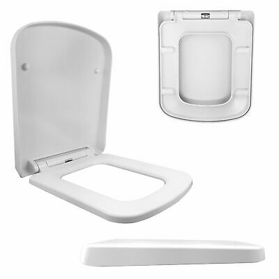£30.95 • Buy Luxury Square Design Toilet Seat Soft Close One Button Release Top Fixing