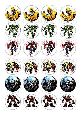 24 Transformers  Wafer Rice Edible Fairy/cupcake  Cake  Toppers • 2£