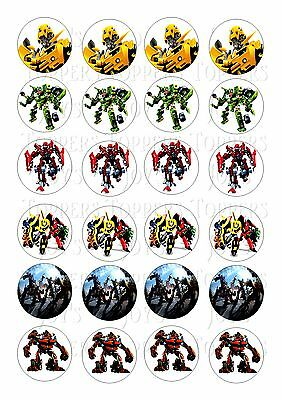 24 Transformers Toppers Iced/ Icing Edible Fairy/cup Cake  Toppers • 3.90£