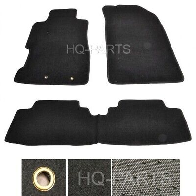 $39.99 • Buy Fit For 01-05 Civic 2 / 4 Door Or 02-05 Civic Si Black Nylon Floor Mats 3 Pieces