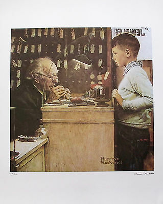 $ CDN168.67 • Buy NORMAN ROCKWELL  THE WATCHMAKER  1978 Signed Limited Edition Lithograph Art
