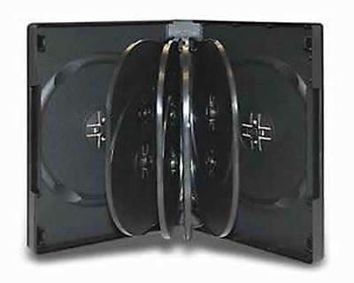 AU21.85 • Buy 6x Hold 10 Black DVD CD Cover Cases 32mm - Holds 10 Discs