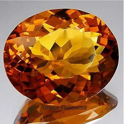 £110.73 • Buy Natural Madeira Citrine 22x29 Mm Large Oval Cut Outstanding (175918)