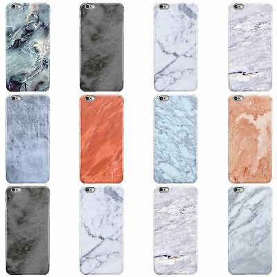 Dyefor Faux Marble Effect Design Hard Phone Case Cover For Apple Iphone • 4.95£