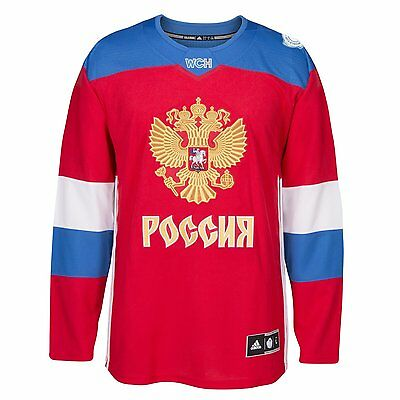 $97.49 • Buy Team Russia 2016 World Cup Of Hockey Adidas Men's Premier Red Jersey