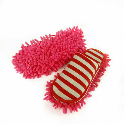 Home Slipper Floor Cleaning Detachable Striped Wipe Mop Duster Tool Remove Shoes • 9.85£