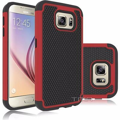 $ CDN6.79 • Buy Fits Samsung Galaxy S6 Case Shockproof Rugged Impact Hybrid Armor Cover - Red