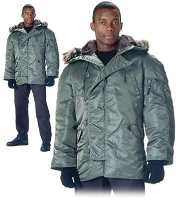$ CDN120.42 • Buy ROTHCO Sage Green N-3B Cold Weather Snorkel Parka Jacket Coat S To 3X