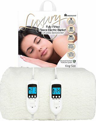£84.95 • Buy Homefront King Electric Blanket Size Heated Cover Washable Dual Control Fleece