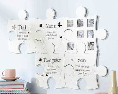 £14.99 • Buy Family Jigsaw Wall Art Photo Picture Frame Dad Mum Son Daughter Photograph Arora