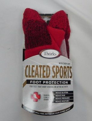 £5.86 • Buy NEW Thorlos Cleated Sports Foot Protection Socks Red (G1-33)
