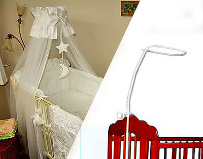 Holder For Baby Cot Drape Canopy Mosquito Rod Bar Clamp Pole Cot Bed • 9.89£