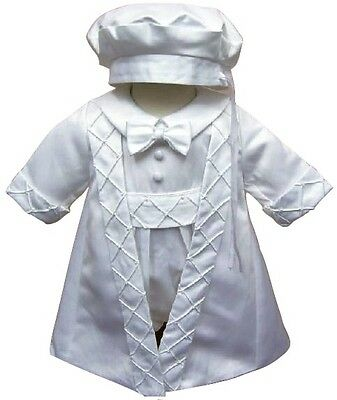 Christening Gown Baby Boys Christening Suit Romper Jacket And Hat  • 19.99£