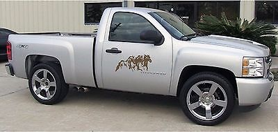 $ CDN26.35 • Buy Running Horses Decal Stickers Graphics 2 Piece Equestrian Truck Trailer Stickers