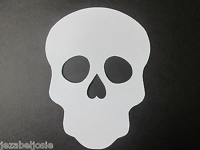 £2.85 • Buy 10 Large White Sugar Skull  Die Cuts Masks 23.7cm X 17.5cm Day Of The Dead