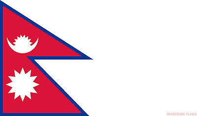 £3.29 • Buy NEPAL 18  X 12  FLAG Suitable For Boats Caravans Treehouses Flags