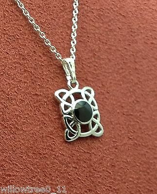 Genuine Whitby Jet And Silver Pendant  Jp098 Hand Made In Whitby • 28£