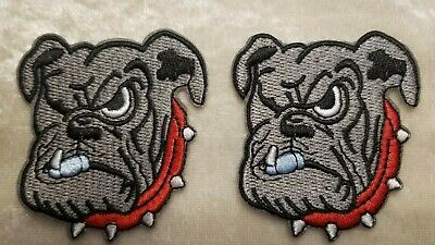 $5.95 • Buy University Of Georgia Bulldogs SET Of TWO 2.25  Iron On Embroidered Patches!