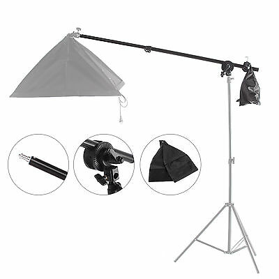 Overhead Boom Arm With Grip Head Clip For Studio Softbox Light Top Light Stand • 23.38£