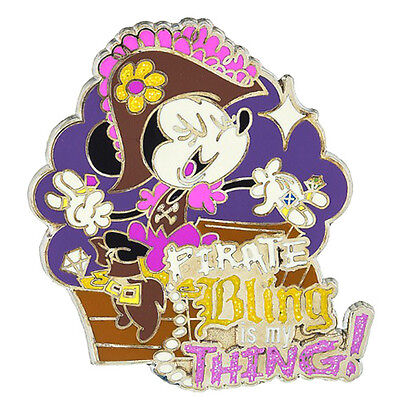 Disney Parks Minnie Mouse Pirate Bling Is My Thing Pin Pirates Of The Caribbean • 11.20£