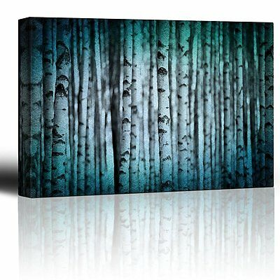 $39.87 • Buy Canvas Wall Art Prints - Trunks Of Birch Trees In Black And White - 24  X 36