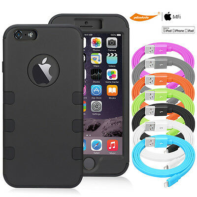 AU21.85 • Buy Shockproof Rugged Armor Case F Iphone 6 6s Plus Certified USB Data Charger Cable