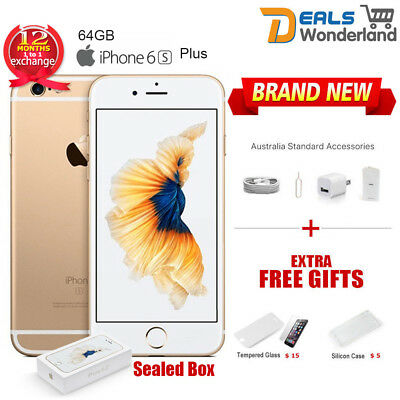AU389.99 • Buy New Sealed Box Apple IPhone 6S Plus + 64GB Mobile Phone Amber Gold  Unlocked