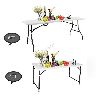 WestWood Heavy Duty Folding Table Portable Plastic Camping Garden Party Trestle • 27.99£