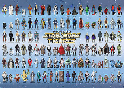 $ CDN34.71 • Buy Vintage Star Wars Poster 104 Action Figures Checklist Kenner Palitoy Guide Print