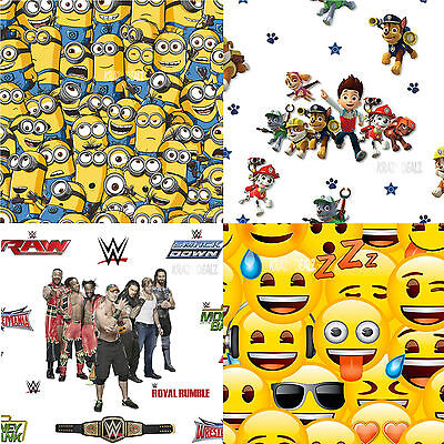 Official Licensed Character Wallpaper Bedroom Wall Decor Paw Patrol Wwe Minions • 9.95£