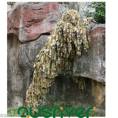 AU116.93 • Buy New Army Camouflage Jungle Yowie Ghillie Suit Airsoft Sniper Tactical Hunting