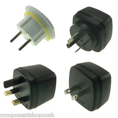 AU8.13 • Buy UK 3 Pin To EU US AU Europe Travel Power AC Adapter Plug Wall Converter