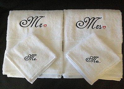 £38.17 • Buy Personalised Embroidered Mr, Mrs Bath Towel & Face Towel Set