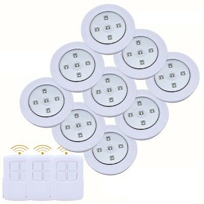 3/6/9pc Wireless Remote Control LED SMD Lights  Battery Operated Under Cabinet • 7.99£