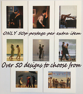 Jack Vettriano Mounted Unframed Art Prints 10  X 8   Choose Range 55+ Pictures • 4.95£