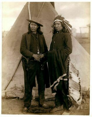 £3.99 • Buy Native American Indian Portrait Red Cloud Photo Art Print Picture