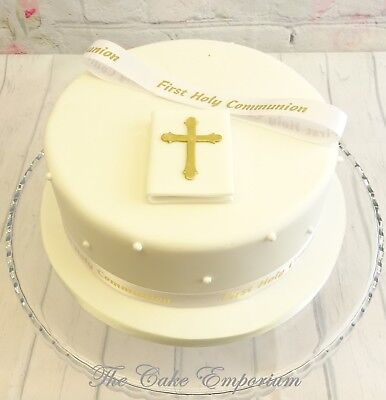 First Holy Communion Bible And Ribbon  Cake Toppers Ornament Sets  • 8.99£