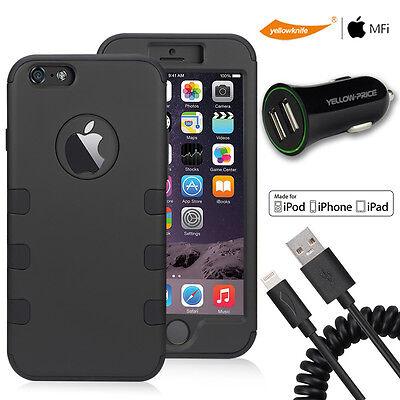AU25.98 • Buy Neo Hybrid Armor Case For IPhone 6S 6 Spring Sync Charger Cable USB Car Charger