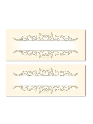 £2.49 • Buy 24 Gold Table Place Name Settings Meal Cards Xmas Party Birthday Dinner Wedding