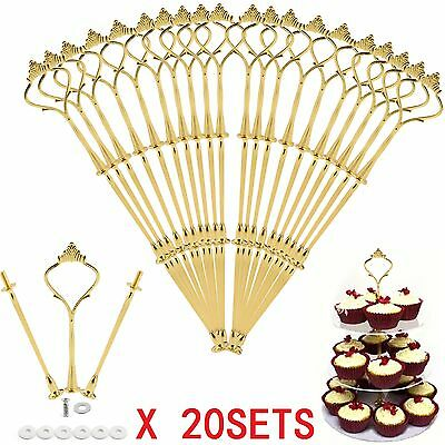 £13.69 • Buy 20x3Tier Cake Stand Centre Rod Handle Fittings Cupcake Muffin Plate Stand Fixing