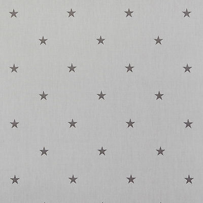 Clarke And Clarke Etoile Stars Grey Cotton PVC WIPE CLEAN Tablecloth Oilcloth • 6.99£