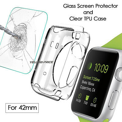 AU13.98 • Buy Premium Tempered Glass For Apple Watch Nike+ IWatch 42mm Film Screen Protector